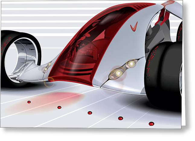 Nikes Greeting Cards - Nike Concept Car Ai Greeting Card by Brian Gibbs