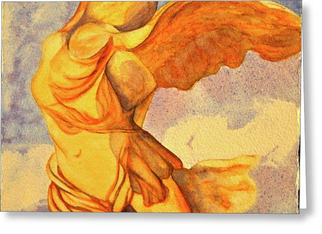Nike Goddess of Victory Greeting Card by Teresa Beyer