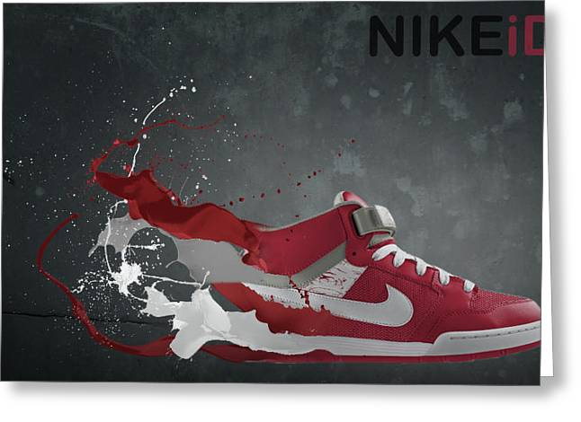 Nike Greeting Cards - Nike ID Greeting Card by Tom  Layland