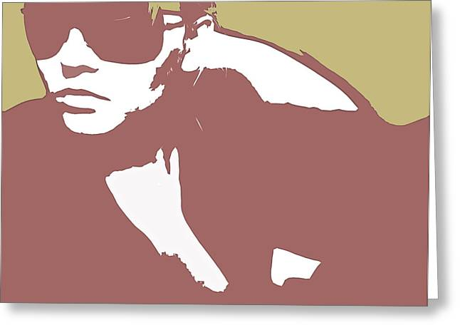 Sunglasses Greeting Cards - Niki brown Greeting Card by Naxart Studio