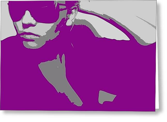 Niki in Glasses  Greeting Card by Naxart Studio