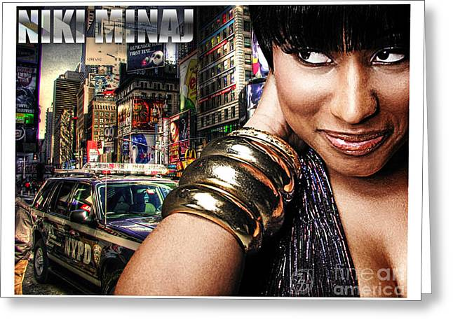 Rnb Greeting Cards - Niki Minaj Greeting Card by The DigArtisT