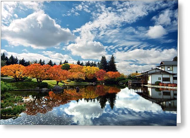 Lethbridge Greeting Cards - Nikka Yuko Japanese Garden Greeting Card by Tom Buchanan