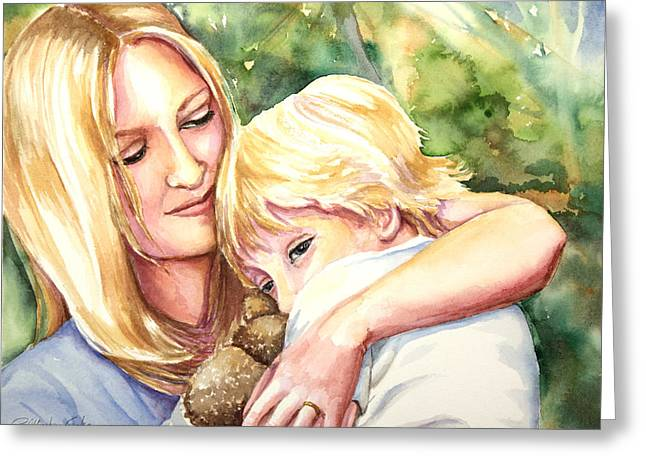Tender Moment Greeting Cards - Nikki and Xander Greeting Card by Patricia Allingham Carlson