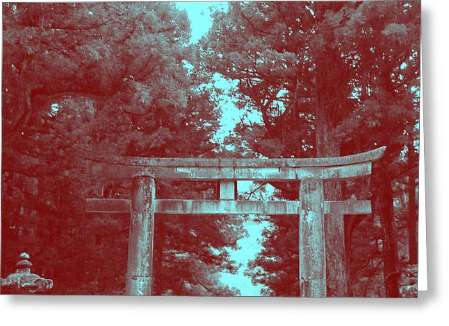 Monastery Greeting Cards - Nikko Gate Greeting Card by Naxart Studio