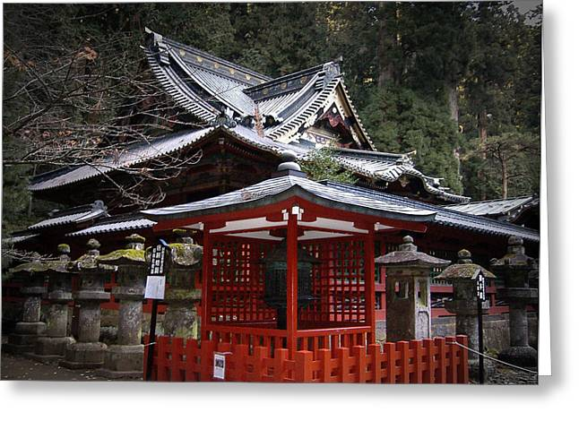 Japan Greeting Cards - Nikko Monastery Building Greeting Card by Naxart Studio