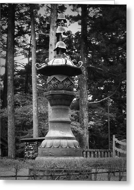 Monastery Greeting Cards - Nikko Sculpture Greeting Card by Naxart Studio