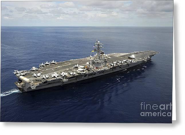 Dwight D. Eisenhower Greeting Cards - Nimitz-class Aircraft Carrier Uss Greeting Card by Stocktrek Images