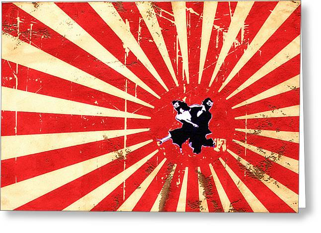 Judo Greeting Cards - Ninjas Greeting Card by Bill Cannon