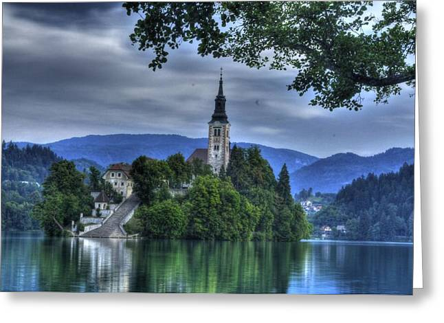 Bled Greeting Cards - ninty-nine steps to the Chuch Greeting Card by Don Wolf