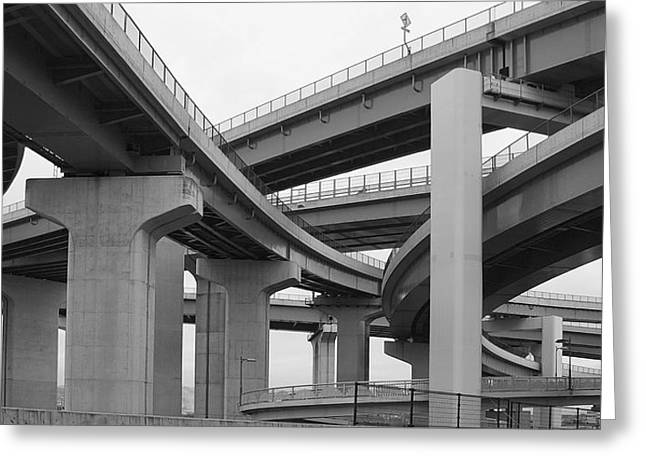 Shogun Photographs Greeting Cards - Nippon Super Expressway No. 2 Greeting Card by Daniel Hagerman