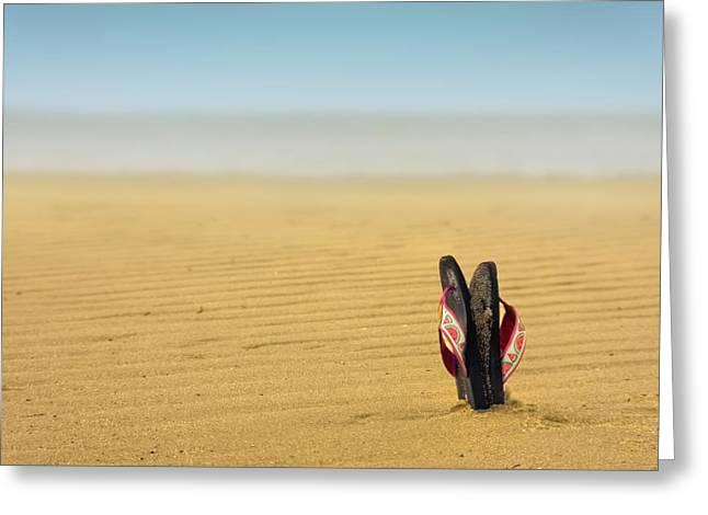 Sandals Greeting Cards - Nirvana Greeting Card by Evelina Kremsdorf
