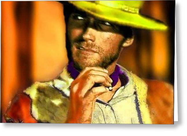 Nixo Clint Eastwood Greeting Card by Nicholas Nixo