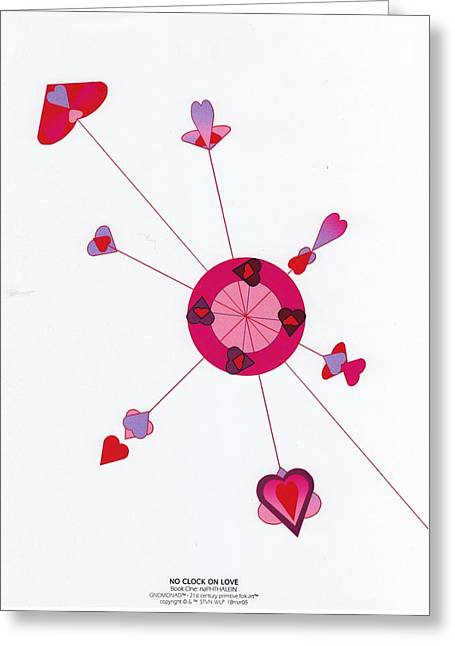 Microsoft. Greeting Cards - No Clock On Love Greeting Card by Steven Welp