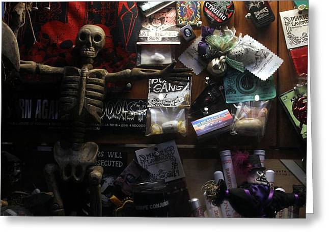 Voodoo Shop Greeting Cards - NO corner store Greeting Card by Rdr Creative