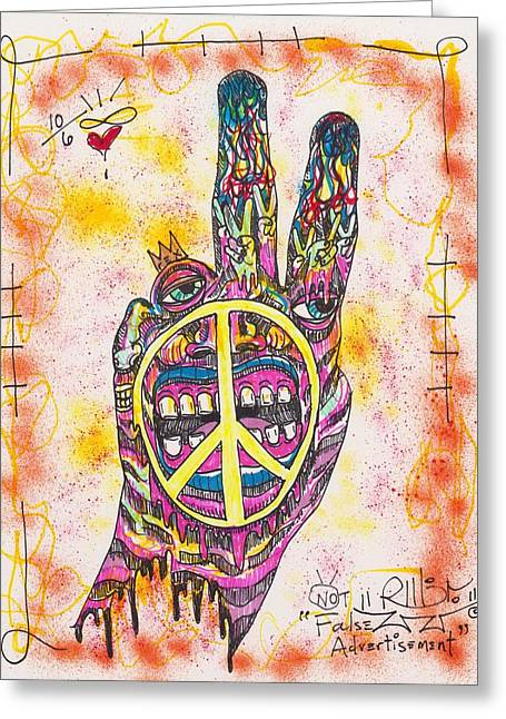 Peace Greeting Cards - No False Advertisement Greeting Card by Robert Wolverton Jr