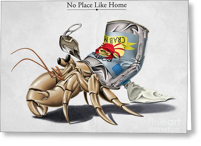 Crab Greeting Cards - No Place Like Home Greeting Card by Rob Snow