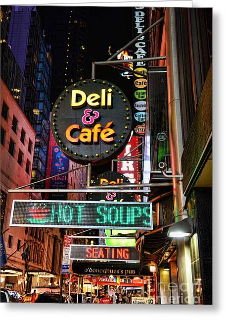 Deli Greeting Cards - No soup for you Greeting Card by Paul Ward