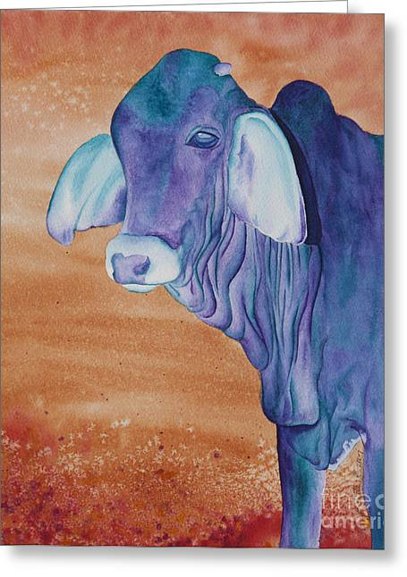 Brahma Bull Greeting Cards - No Starch Added aka Eeyore Greeting Card by Tracy L Teeter