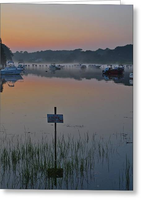Best Sellers -  - Tidal Photographs Greeting Cards - No Stone Throwing Greeting Card by Catherine Easton