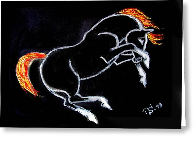 Horse Images Mixed Media Greeting Cards - No Greeting Card by Tarja Stegars