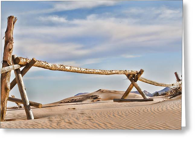 Sand Fences Photographs Greeting Cards - No Trespassing Greeting Card by Heather Applegate