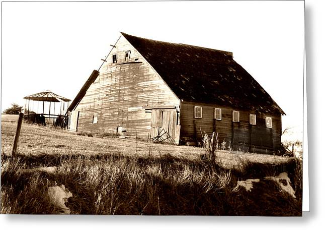 Barn Digital Art Greeting Cards - No Use Greeting Card by Julie Hamilton