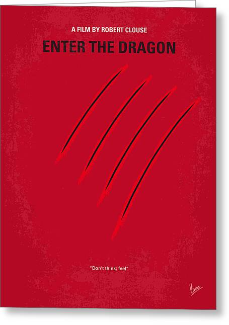 Tournaments Greeting Cards - No026 My Enter the dragon minimal movie poster Greeting Card by Chungkong Art