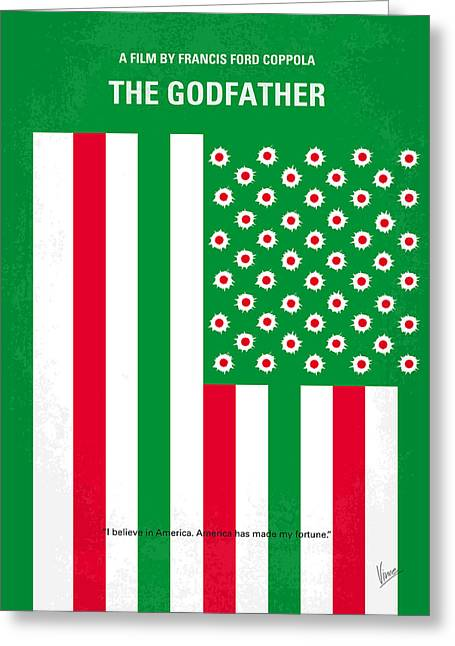 Francis Greeting Cards - No028 My Godfather minimal movie poster Greeting Card by Chungkong Art