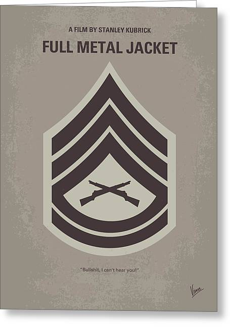 Recruit Greeting Cards - No030 My full metal jacket minimal movie poster Greeting Card by Chungkong Art