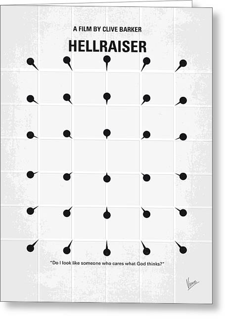 Wall Street Greeting Cards - No033 My HELLRAISER minimal movie poster.jpg Greeting Card by Chungkong Art