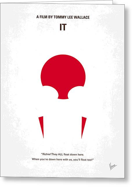 Evil Greeting Cards - No043 My it minimal movie poster Greeting Card by Chungkong Art