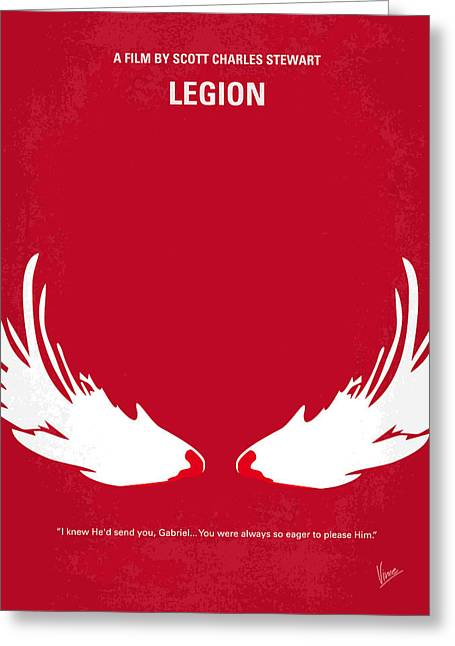 Apocalypse Greeting Cards - No050 My legion minimal movie poster Greeting Card by Chungkong Art