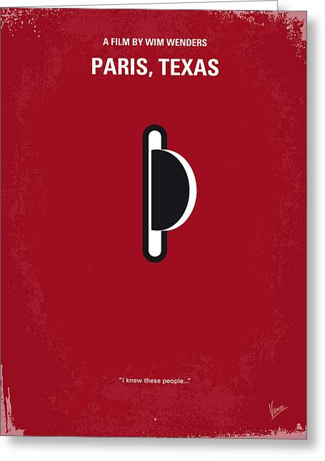 Actions Greeting Cards - No062 My Paris Texas minimal movie poster Greeting Card by Chungkong Art