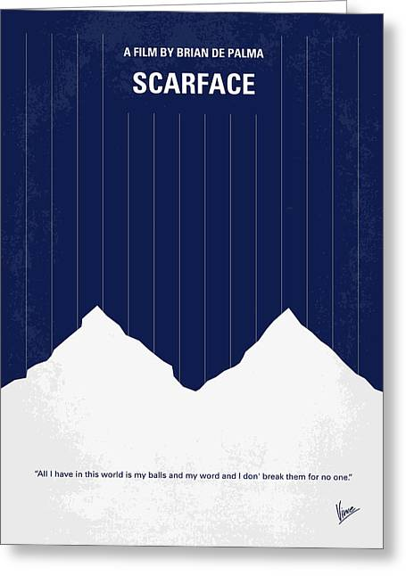 Montana Digital Art Greeting Cards - No158 My SCARFACE minimal movie poster Greeting Card by Chungkong Art
