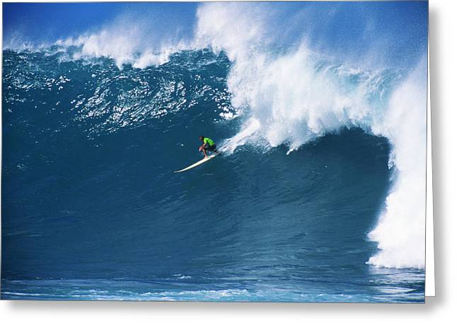 Surfing Art Greeting Cards - Noah At Waimea Greeting Card by Vince Cavataio - Printscapes