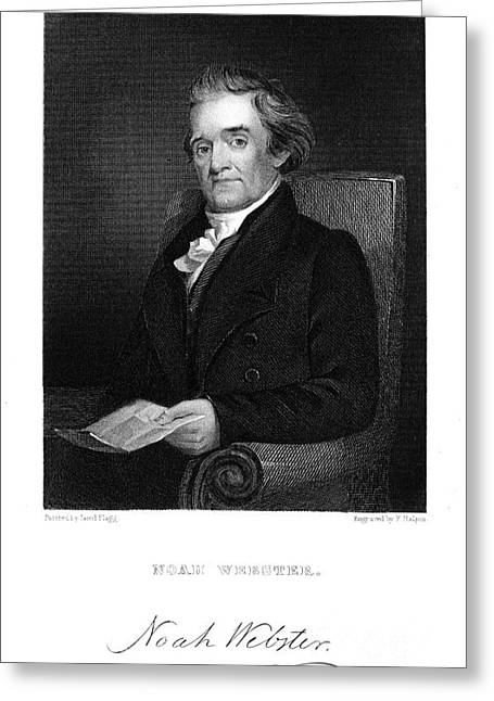 Flagg Greeting Cards - Noah Webster (1758-1843) Greeting Card by Granger