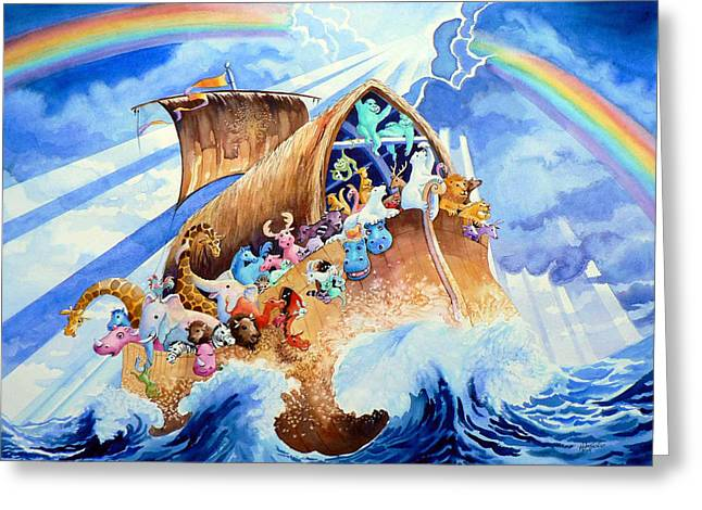 Noahs Ark Paintings Greeting Cards - Noahs Ark Greeting Card by Hanne Lore Koehler