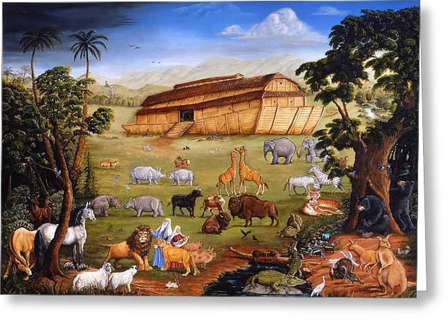 Noahs Ark Paintings Greeting Cards - Noahs Ark Greeting Card by Joseph Holodook