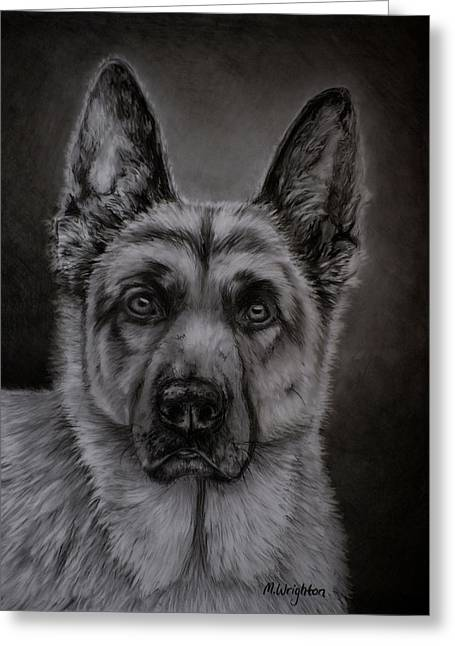 Michelle Wrighton Greeting Cards - Noble - German Shepherd Dog  Greeting Card by Michelle Wrighton