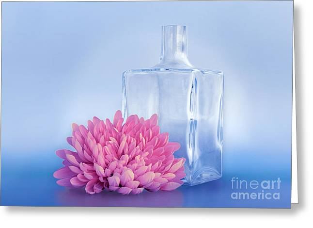 Glass Vase Greeting Cards - Noble Still Life Greeting Card by Viaina