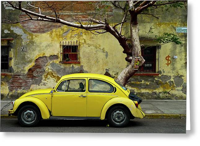 Vw Beetle Greeting Cards - Noche de Estrellas Greeting Card by Skip Hunt