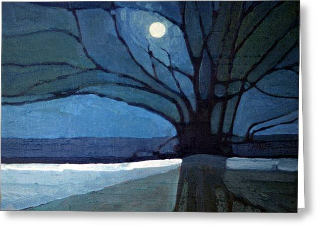 Moonrise Greeting Cards - Nocturn 71 Greeting Card by Donald Maier