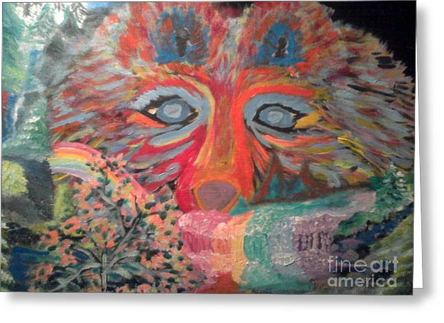 Nocturnal Survival Greeting Card by Catherine Herbert