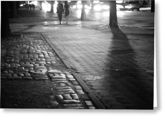 Manhattan Night Greeting Cards - Nocturne - Night - New York City Greeting Card by Vivienne Gucwa