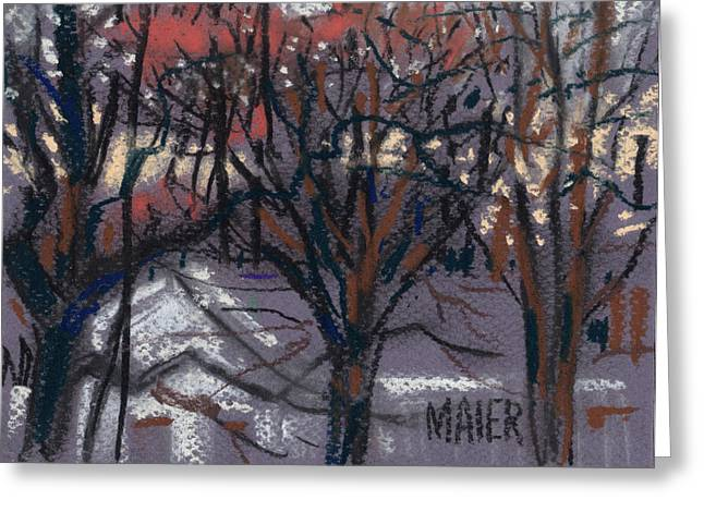 Night Pastels Greeting Cards - Nocturne Two Greeting Card by Donald Maier