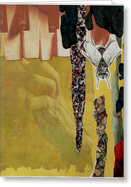 Praying Hands Mixed Media Greeting Cards - Noise Greeting Card by Rhiannon Sweet