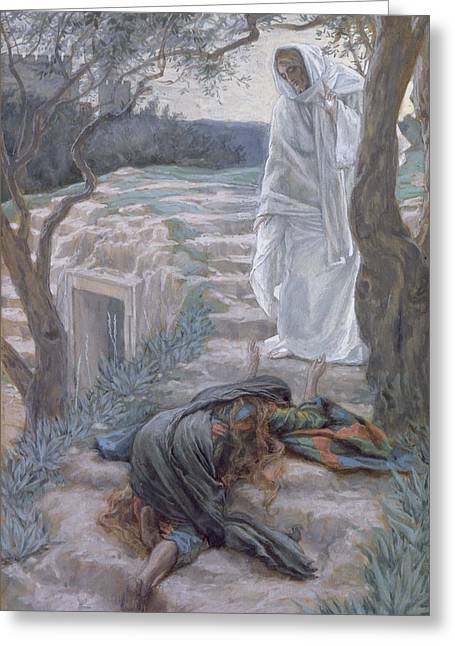 New Testament Paintings Greeting Cards - Noli Me Tangere Greeting Card by Tissot