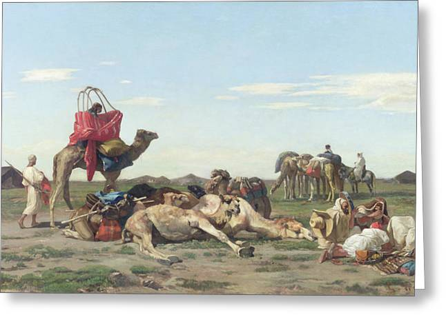 Nomads in the Desert Greeting Card by Georges Washington