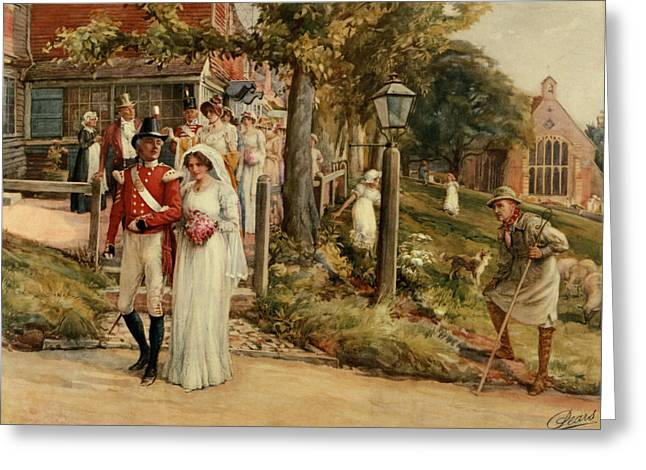 Processions Greeting Cards - None But The Brave Deserve The Fair Greeting Card by James Shaw Crompton